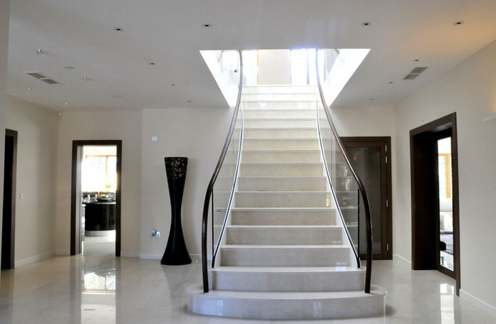 Marble floor and stairs